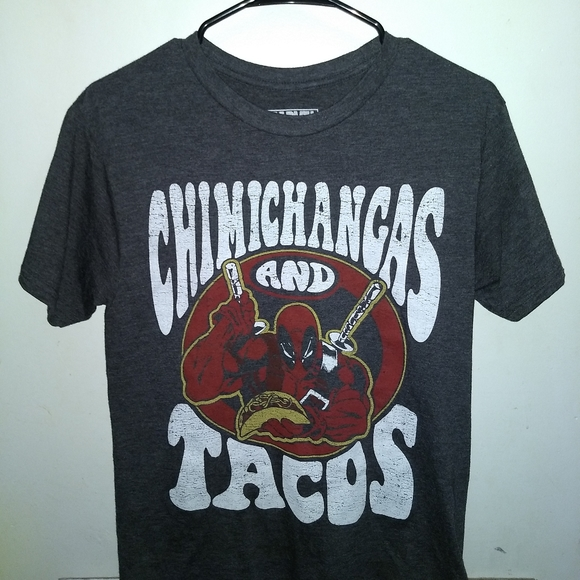Marvel Other - DEADPOOL T-SHIRT <> CHIMICHANGAS & TACOS <> MARVEL
